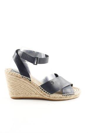 Tory Burch Wedges Sandaletten schwarz-wollweiß Casual-Look
