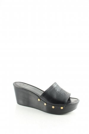 Tory Burch Wedges Sandaletten schwarz Beach-Look