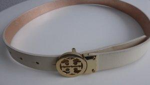 Tory Burch Leather Belt cream-nude leather
