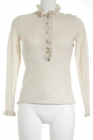 Tory Burch Wollpullover creme Casual-Look