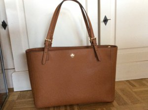 Tory Burch York die Große Handtasche Tasche in Luggage/ Cognac wie neu