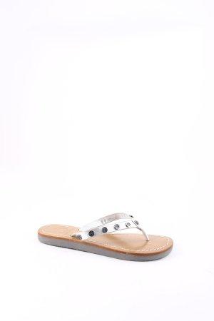 Tory Burch Sandalo toe-post multicolore stile da moda di strada