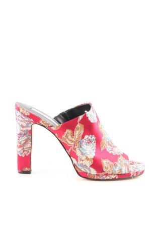 Tosca blu Heel Pantolettes flower pattern elegant