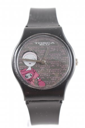 Tosca blu Analoguhr schwarz-pink sportlicher Stil