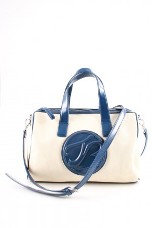 Tosca blu Handtasche creme-blau Motivdruck Casual-Look