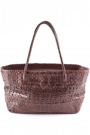 Tosca blu Carry Bag brown weave pattern Boho look