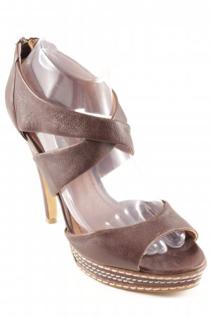 Tosca blu High Heel Sandal dark brown-light brown elegant