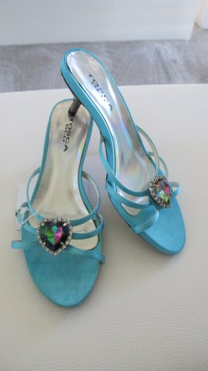 Tosca blu High-Heeled Sandals turquoise-silver-colored