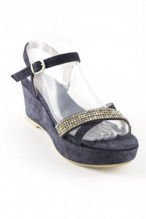 Tosca blu Wedges Sandaletten dunkelblau Elegant