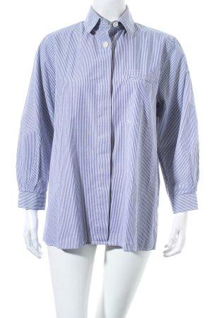 Tossana diva Hemd-Bluse blau-weiß Streifenmuster Business-Look