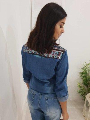 Chemise en jean bleu