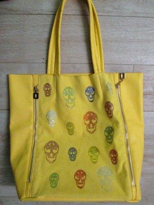 Tote yellow imitation leather