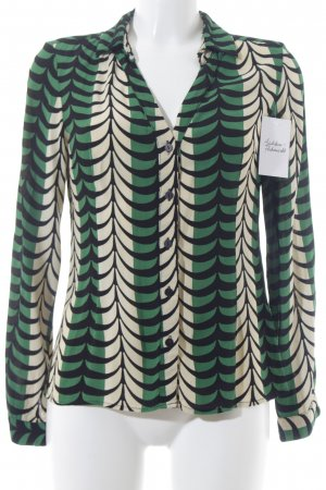 Totem Langarm-Bluse abstraktes Muster