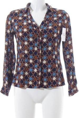 Totem Langarm-Bluse abstraktes Muster extravaganter Stil