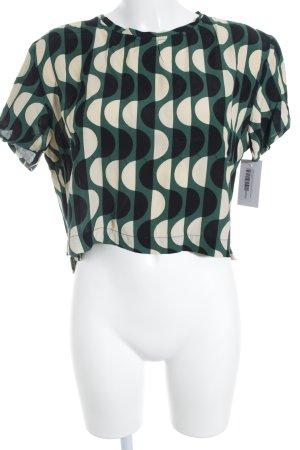 Totem Slip-over blouse abstract patroon Azteken print