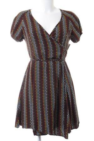 Totem Wickelkleid abstraktes Muster 70ies-Stil