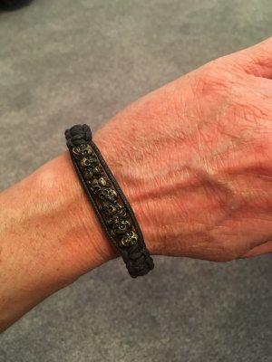Totenkopf-Armband schwarz