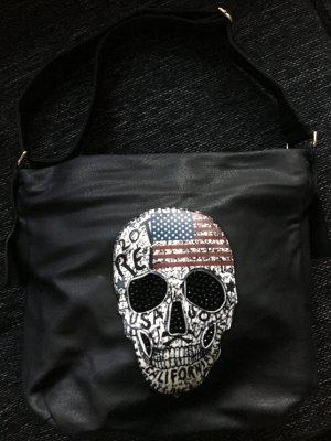 Totenkopf Skull Leder-Shopper