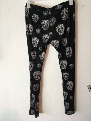 Leggings negro-blanco