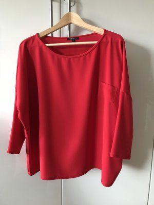 Toupy Oversized blouse rood Polyester