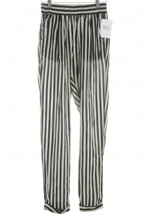 Toupy Jersey Pants black-cream striped pattern casual look