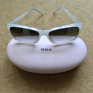 Oval Sunglasses white synthetic material