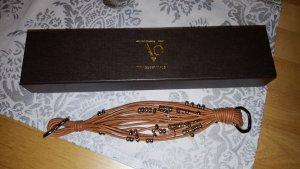 TOV Essentials tricolor cognacfarbenes Lederarmband