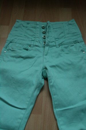 Toxik3 High Waist Trousers mint cotton