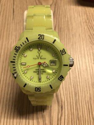 Montre jaune fluo-jaune citron vert