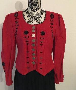 Folkloristische jas rood Linnen