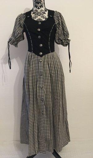 Tracht * Kleid * schwarz-beige * Karo * Meico Landhaus Look * 36