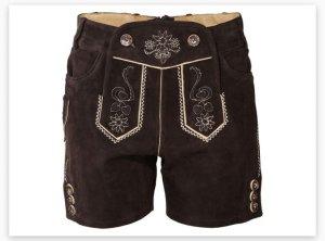 Esmara Pantalon en cuir brun foncé