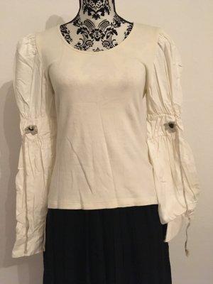 Folkloristische blouse wolwit Katoen