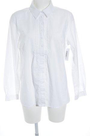 trachten-alm Camisa folclórica blanco estilo clásico