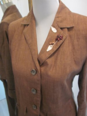 Trachten Anzug Leinen Gr 36 Braun