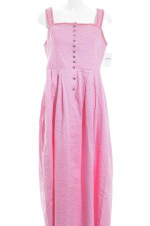 Trachten Deiser Vestido Dirndl rosa-blanco estampado floral estilo country