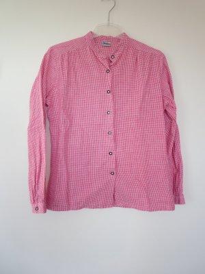 Folkloristische blouse rood-wit Katoen