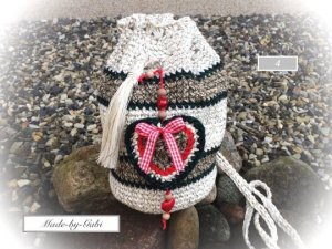 Traditional Bag multicolored mixture fibre