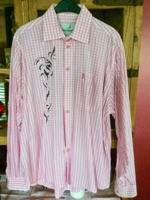 100% Fashion Hemdblouse roze-wit