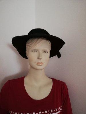 Vilten hoed donkerblauw-donkergroen