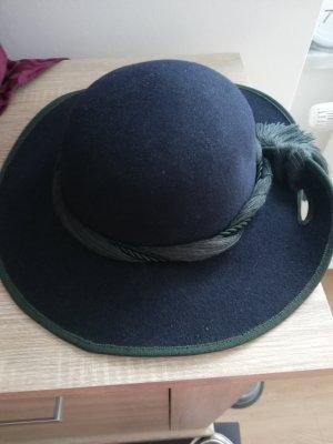 Felt Hat dark blue-dark green