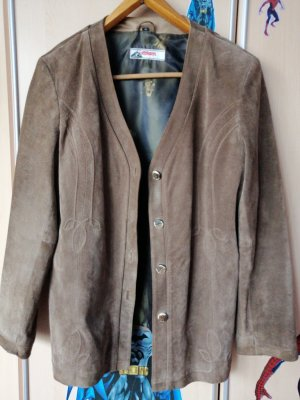Alphorn Leather Jacket grey brown