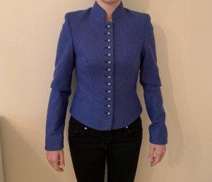 Angermaier Giacca di lana blu Lana