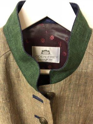 Lodenfrey Folkloristische jas grijs-bruin-bos Groen