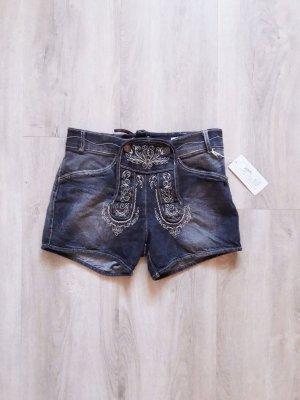 Trachten Jeans Shorts anthrazit Gr. 34