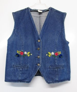 Denim Vest multicolored cotton