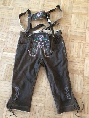 A-Z Pantalon en cuir brun