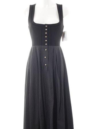 Trachten-Mad'l Dirndl zwart-wit gestippeld patroon extravagante stijl