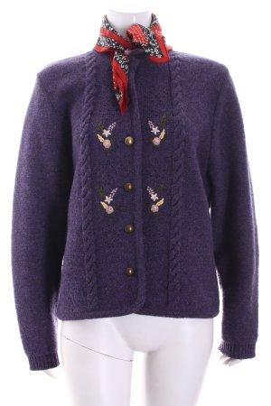 Trachten-Mad'l Folkloristische jas grijs-paars country stijl