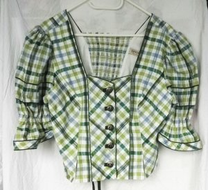 Landhaus by C&A Traditional Blouse forest green-white